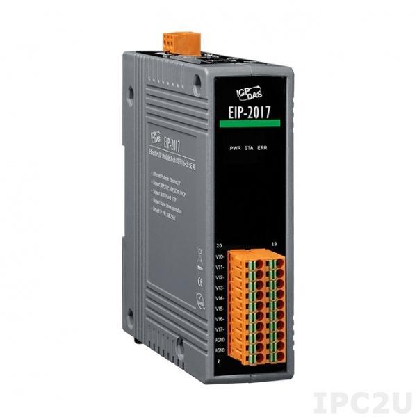 EIP-2017 Модуль ввода-вывода, 8 каналов дифференциального или 16 одностороннего каналов аналогового ввода, EtherNet/IP (RoHS)