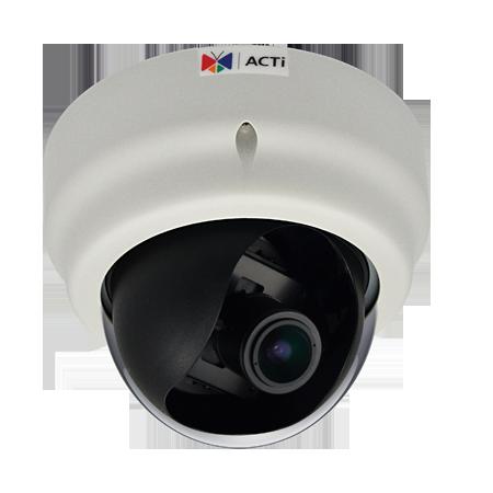 D62A 2 МП купольная IP-камера, вариофокальный объектив f2.8-12mm/F1.4, H.264, 1080p/30кадр/сек, DNR, Audio, Micro SDHC/SDXC, PoE, IK09, DI/DO, -10C...+50C