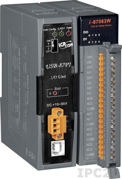 USB-87P1 Корзина расширения для модулей I-87K, 1 слот расширения, интерфейс USB , протокол DCON