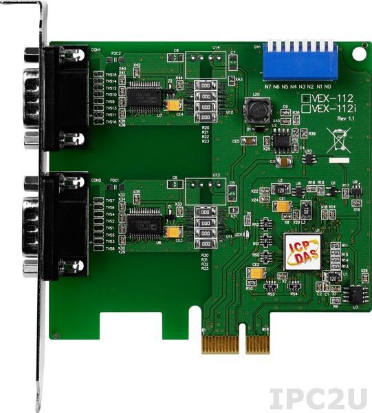 VEX-112 PCI Express адаптер 2xRS-232 115.2кбод