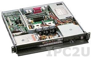 "GHI-112 19"" корпус 1U, ATX, отсеки 1x5.25"" Slim/1x3.5"" Slim/1x3.5"" HDD, 3 вентилятора, без источника питания"