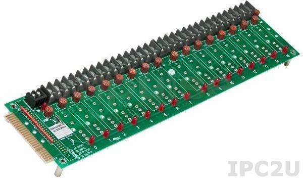 SCMD-PB16TSMD Плата клеммников для установки 16 модулей ввола-вывода серии SCMD, компактное исполнение, винтовые клеммы, 24В