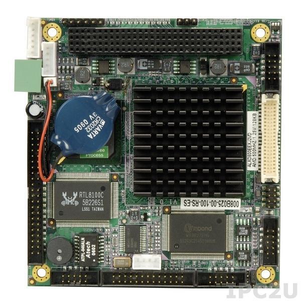 PM-LX-800 PCI-104 процессорная плата с AMD LX800 500МГц, VGA, LAN, 2xUSB 2.0, CompactFlash Socket, слот расширения 1xPCI-104