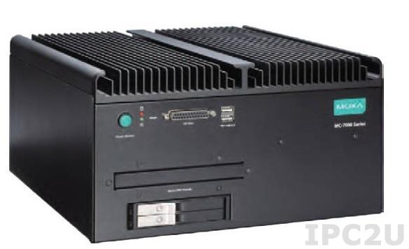 MC-7270-MP-T x86 компьютер c Intel i7, безвентиляторный, PCI/PCIe, 2 USB3.0, 6 USB 2.0, 4 LAN, 2 DVI-D, 1 VGA, 4 последовательных порта, LPT порт, два источника питания