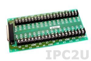 DB-8325/1 Плата клеммников с разъемом DB-37 и кабелем 1м