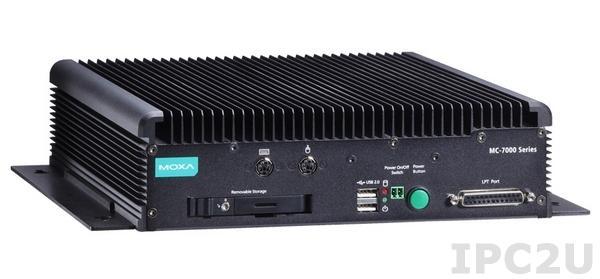 MC-7230-DC-CP-T Безвентиляторный компьютер на базе процессора Intel Core i3-3210M, 2 x RS-232/422/485, 2 x RS-232, 4 x Gigabit Ethernet, 6 x USB 2.0, 2 x USB 3.0, VGA/DVI, вход питания DC