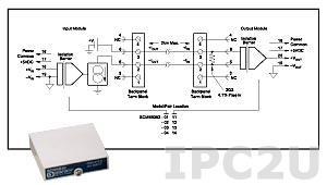 SCM5B392-12 Нормализатор сигналов для управления двигателем, сервоприводом, вход 4...20 мА, выход -5...+5 В