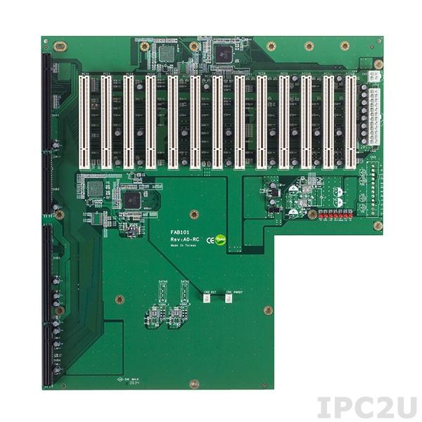 FAB101-14P13-RC Объединительная плата PICMG 1.3, 14 слотов, 1xPICMG 1.3, 13xPCI
