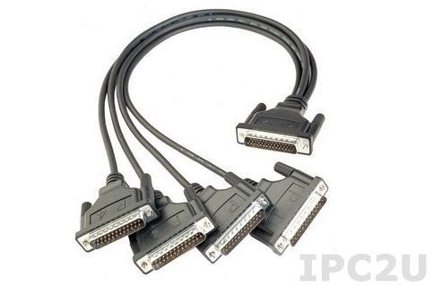 CBL-M44M25x4-50 Разветвительный кабель RS-232/422/485, разъемы DB44 в 4xDB25 Male, ПВХ, 15В