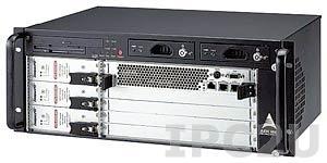 """cPCIS-6400U/DC4 19"""" Корпус 4U CompactPCI для плат 6U cPCI, 5 слотовая CTI пассивная объединительная плата 64 бит Rear I/O, с CD-ROM, FDD, двумя съемными отсеками HDD, тремя источниками питания cPS-H325"""