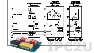 SCMD-MIAC5A Изолирующий модуль ввода дискретных сигналов, вход 180...280 В AC/DC, выход 5 В