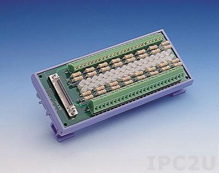 ADAM-3951-BE Плата клеммников с разъемом SCSI-II-50, светодиодные индикаторы, монтаж на DIN рейку