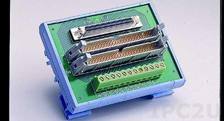 ADAM-3968/50-AE Плата клеммников с разъемами 68-контактным, 2x50-контактным, монтаж на DIN рейку