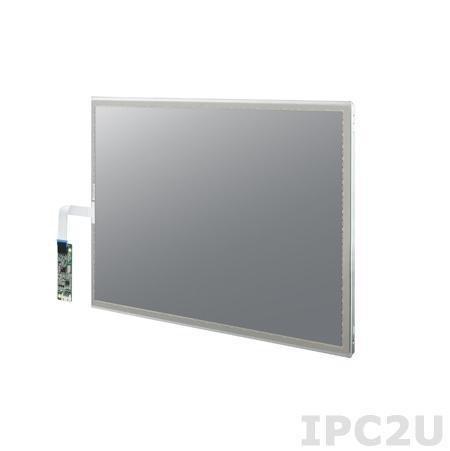 "IDK-1119R-35SXA1E 19"" LCD 1280 x 1024 Open Frame дисплей LED, 350нит, резистивный сенсорный экран (USB), LVDS"