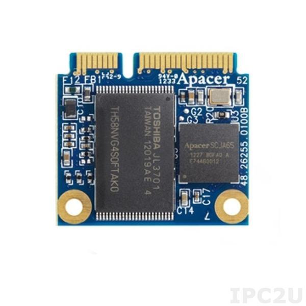 APSDM064GM5AN-PCM APACER mSATA SSD, SATA 2, 64Гб, MLC, рабочая температура 0..70C