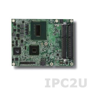 EmETXe-i87M0-4402E Процессорная плата COM Express,процессор Intel 4th Generation Core i5-4402E, чипсет,QM87, Gigabit Ethernet,двойные каналы 24-bit LVDS, аналог RGB, и 3 x DDI порта, RAID 0, 1, 5, 10,поддержка Intel AMT, Рабочая температура: -20...70