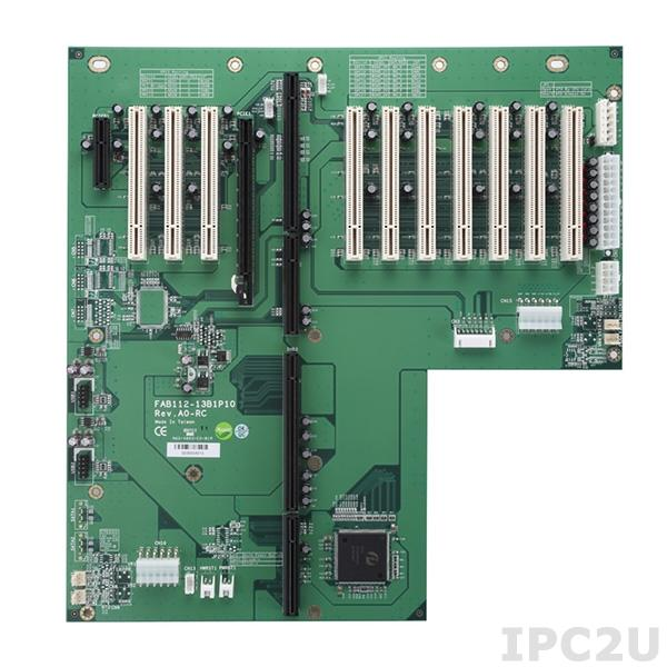FAB112-13B1P10-RC Объединительная плата PICMG 1.3, 13 слотов, 1xPICMG 1.3, 1xPCIex4, 10xPCI, 1xPCIex16