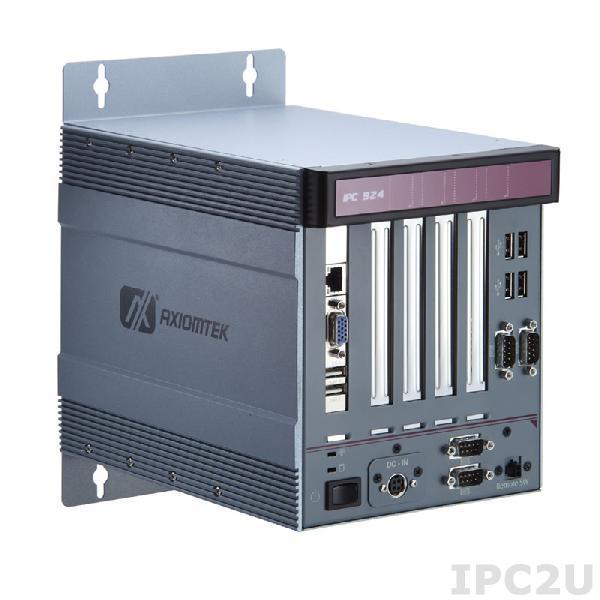 IPC924-212-FL-DC-D525-HAB104 Многослотовый встраиваемый компьютер с Intel Atom D525, Intel ICH8M чипсет, 4хPCI, ATX DC-IN 150Вт