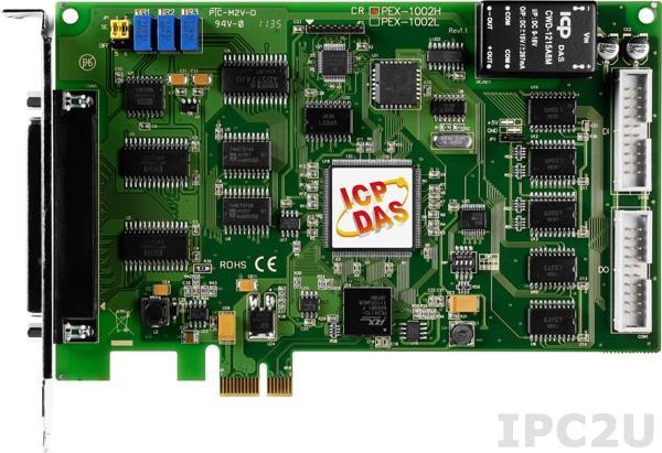 PEX-1002H Многофункциональный адаптер PCI Express, 32SE/16D каналов АЦП, 16DI, 16DO, таймер, разъем CA-4002x1
