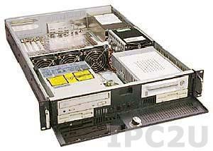 """GH-231ATX 19"""" корпус 2U, ATX, отсеки 2x5.25""""/2x3.5"""" FDD/3x3.5"""" HDD, 3x Горизонтальных слота расширения, без источника питания"""