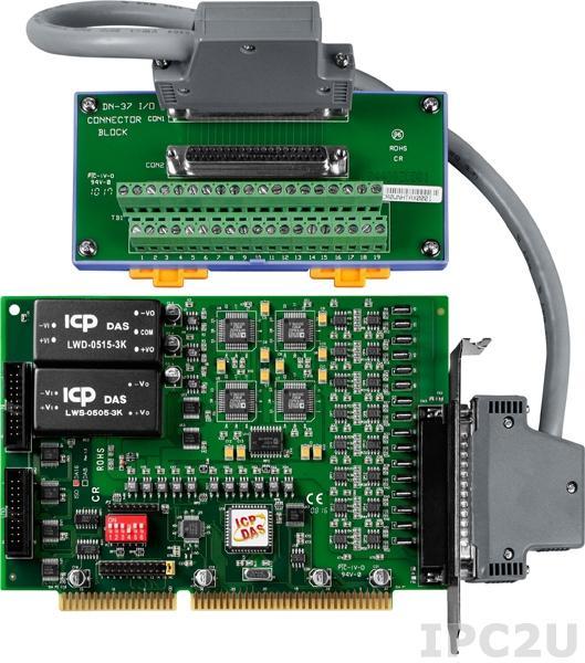 ISO-DA16/S Адаптер ISA 16 каналов ЦАП с изоляцией, плата клеммников DN-37 с кабелем CA-3710