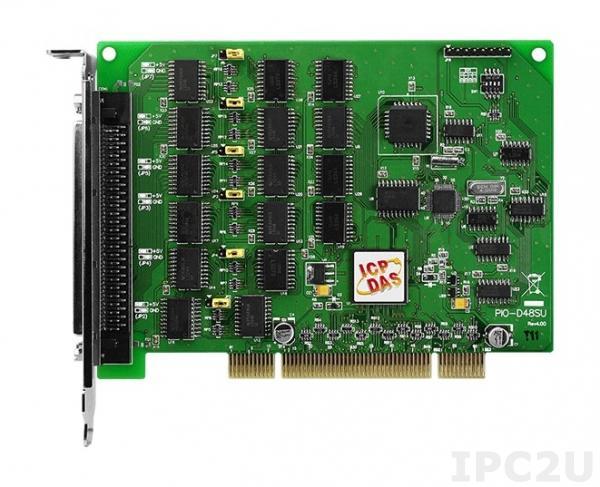 PIO-D48SU PCI адаптер, 48 каналов дискретного ввода-вывода TTL, 2-канальный 16 бит таймер/счетчик, RoHS