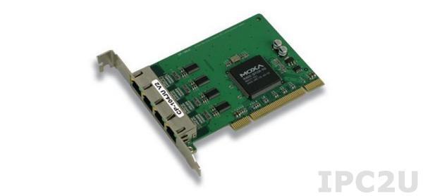 CP-104JU-T 4-портовая плата RS-232 для шины Universal PCI с разъемами RJ45, без кабеля, -40...+85С