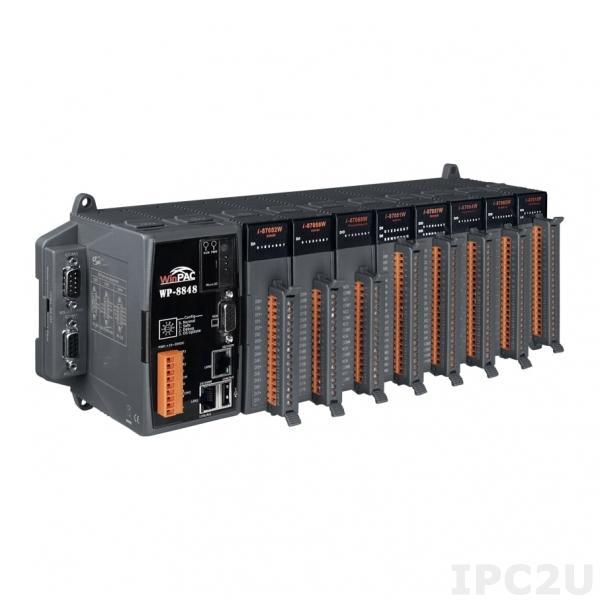 WP-8848-EN PC-совместимый промышленный контроллер PXA270 520МГц, 128Mб SDRAM, 96Mб Flash, 2xRS-232, 1xRS-485, 1xRS-232/485, 2xEthernet, 8 слотов расширения, Win CE 5.0, Win-GRAF