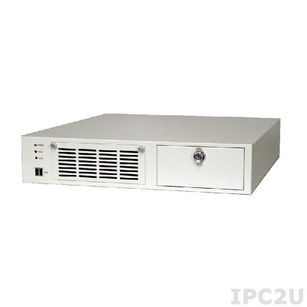 """RACK-220GW/A130B 19"""" корпус 2U, Для полноразмерной объединительной платы формата PICMG 1.0, 2 х 8 см кулер, Источник питания ACE-A130B 300Вт ATX"""