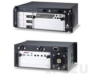 """cPCIS-6400UA/AC 19"""" Корпус 4U CompactPCI для плат 6U cPCI, 5 слотовая CTI пассивная объединительная плата 64 бит Rear I/O, с FDD, CD-ROM, съемным отсеком SATA HDD, тремя источниками питания cPS-H325/AC"""