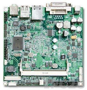 NANO-8045L-1100 Процессорная плата Nano-ITX Intel Atom Z510 1.1ГГц с DVI-D, LVDS, Gb LAN, CF, 2xUSB, Audio, низкопрофильная