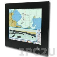"""R20L100-MRA2 T/S Промышленный 20.1"""" TFT LCD монитор для морского использования, 1600x1200, резистивный сенсорный экран, VGA, RCA, S-Video, DVI-D, IP65 по передней панели, 9-36 В DC (клеммная колодка)"""