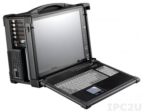"""ARP670-17AD Алюминиевый корпус для рабочей станции с дисплеем 17"""" SXGA 1280x1024 TFT LCD/интерфейс дисплея DVI/ 7 слотов расширения/отсеки 2x5.25""""/1x3.5""""/1xSlim DVD/2xДинамика 3 Вт/клавиатура 104 клавиши/тачпад/PS/2 блок питания 650 Вт/поддержка ATX"""