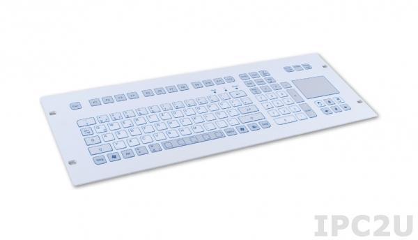 """TKS-105c-TOUCH-FP-4HE-PS/2 Встраиваемая промышленная IP65 клавиатура, 19"""", 4U, 105 клавиш, тачпад, PS/2"""