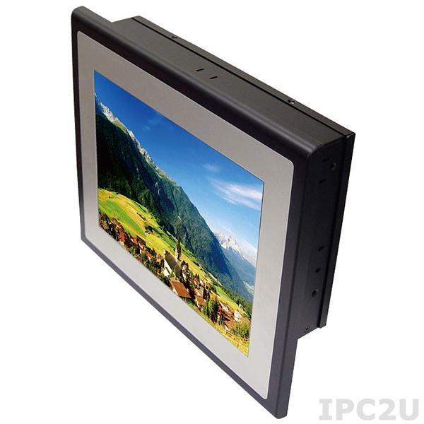 """ST12251 Безвентиляторный панельный компьютер с 10.4"""" TFT LCD, резистивный сенсорный экран, 2I385C-I44, Intel Atom E3845 1.91ГГц, 4Гб DDR3L, 1x2.5"""" HDD, 4x COM, 2x LAN, 4x USB, VGA, 2x Mini PCIe (1x mSATA half size), питание 9-36В DC"""