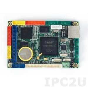 VDX-6318RD-512 2,5'' одноплатный компьютер Vortex86DX 800МГц с 512Мб RAM, LAN, VGA, LCD, AUDIO, 4xCOM, 4xUSB, 2xGPIO, рабочая температура -20..70