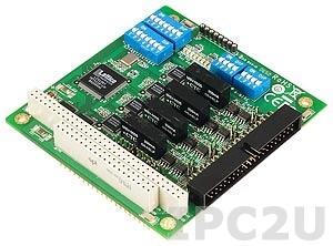 CA-134I 4-портовая плата RS-422/485 для шины PC/104 с изоляцией 2 кВ