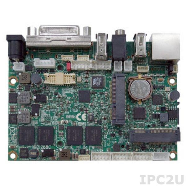 "2I268C-DH26-00 Процессорная плата формата 2.5"" с Intel Atom N2600 1.6ГГц, 2Гб DDR3, DVI, LVDS, GbE LAN, 2xUSB, Touch Screen, 12В DC"