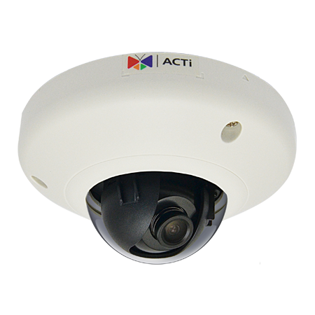 E918 3MP Outdoor Mini Dome with Superior WDR, Fixed lens, f1.9mm/F2.8, H.264, 1080p/30fps, DNR, Audio, MicroSDHC/MicroSDXC, PoE, IP68, IK10, EN50155