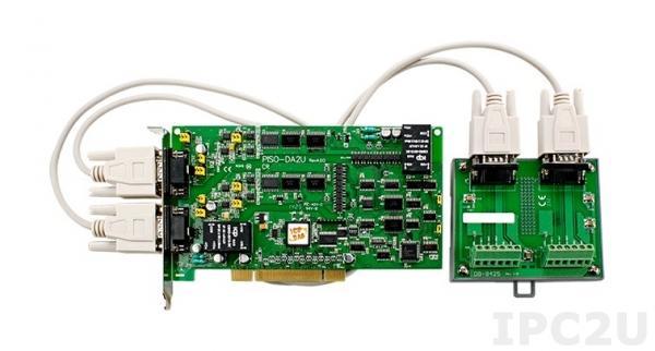 PISO-DA2U/S Адаптер Universal PCI 2-канального изолированного аналогового вывода, плата клеммников DB-8425