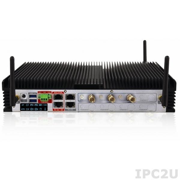 """HDCS-7001-S/SC/LF64 Встраиваемый безвентиляторный компьютер для видео наблюдения, Intel QM67 чипсет, процессор Intel Core i7, 2Гб DDR3, 2.5"""" 500Гб HDD, установлена карта видео захвата (SDI), Linux Fedora 64-bit"""