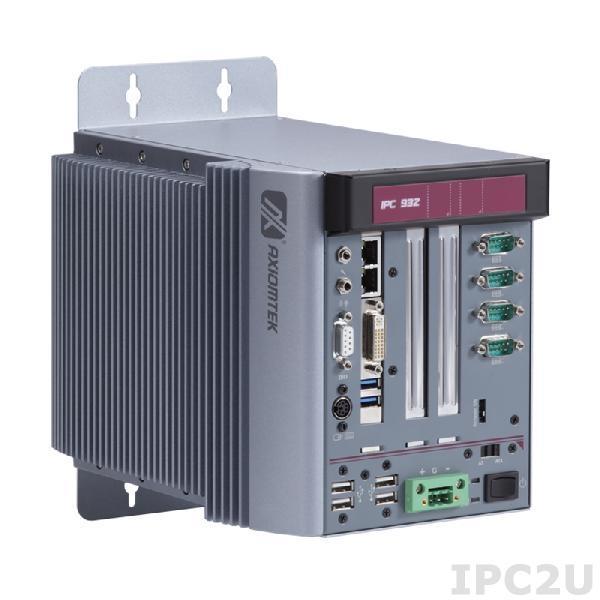 IPC932-230-FL-AC-HAB100 Многослотовый встраиваемый компьютер с Intel Core i7/ i5/ i3, до 3.3 ГГц, Intel Q87 чипсет, 1хPCIe x1, 1хPCIe x4, ATX DC-IN 150Вт P/S, адаптер питания AC-DC 150Вт, кабель питания US, 90...264VAC