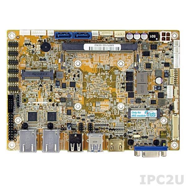 NANO-KBN-i1-2101 Процессорная плата формата EPIC, поддержка процессора AMD 28нм 1.0ГГц c DDR3, VGA/HDMI/LVDS, 2xGb LAN, 6xCOM, 2xUSB 3.0, 6xUSB 2.0, 2xSATA 6G/s, DIO, Audio, полноразмерный слот PCIe Mini
