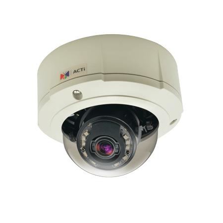 B87 3 МП уличная купольная IP-камера, мотор. трансфокатор f3-9мм/F1.2-2.1, 3х оптич. увеличение, DC- диафрагма, H.264, 1080p/30 кадр/сек, день/ночь, WDR, DNR, Аудио, Micro SDHC/SDXC, PoE/DC12В, IP67, IK10, DI/DO, -40C...+50C