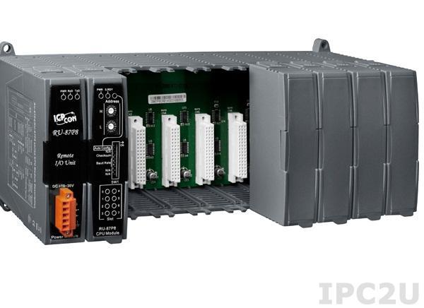 RU-87P8 Корзина расширения для модулей I-87K, 8 слотов расширения, интерфейс RS-485 , протокол DCON