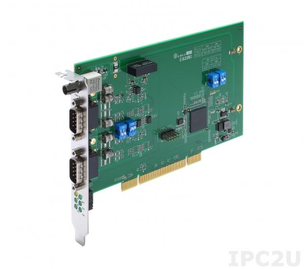 DA-IRIG-B-S-02-T IRIG-B Expansion Module, PCI Interface, 1 Fiber IRIG-B in, 1 DB9M In/Out, 1 DB9M Out
