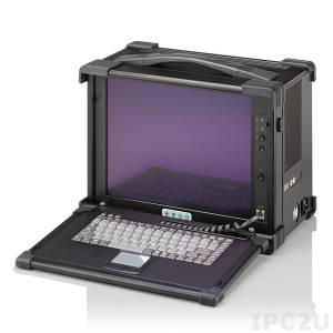 """EMP350-15 Алюминиевая промышленная переносная рабочая станция, 15"""" TFT LCD, встроенный конвертер VGA, 11 слотов, клавиатура 87 клавиш, TouchPad, отсеки 1x5.25"""" Slim/2x3.5""""HDD/1x3.5""""FDD, источник питания 300Вт"""