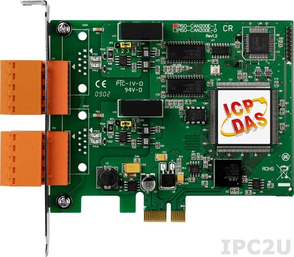 PEX-CAN200i-T PCI Express адаптер интерфейса CAN, 2 изолированных порта