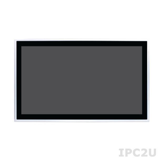 """ASLAN-W722C-1900G4 Безвентиляторный панельный компьютер с 21.5"""" TFT LCD дисплеем, емкостный сенсорный экран, процессор Intel Celeron J1900 2ГГц, 4Гб DDR3L, CF, 4xCOM, 4xUSB 2.0, 3xRJ-45, 1xMini PCIe, DVI, питание 9-36В DC"""