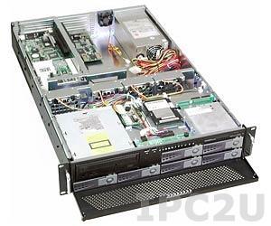 """GHI-289-SATA 19"""" корпус 2U для 6-слотовой объединительной платы, отсеки 6x3.5"""" Hot Swap SATA HDD, 1x2.5"""", 1x5.25"""", 1x3.5"""" Slim, без источника питания"""